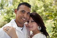kozzi-attractive hispanic couple in the park-883x588