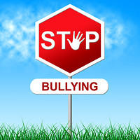 kozzi-Stop Bullying Indicates Warning Sign And Caution-721x721